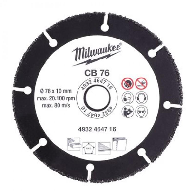 Диск сменный твердосплавный для M12 FCOT CB 76Х10  MILWAUKEE 4932464716