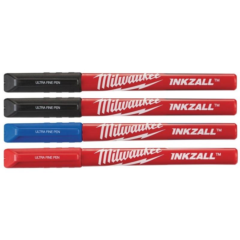 Набор ручек MILWAUKEE INKZALL Fine Tip (Синий/Красный/Черный) тонких 48223165