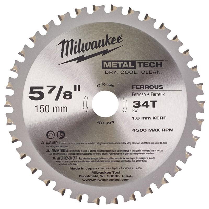 Диск для циркулярной пилы по металлу 150x20x34Z MILWAUKEE 48404080