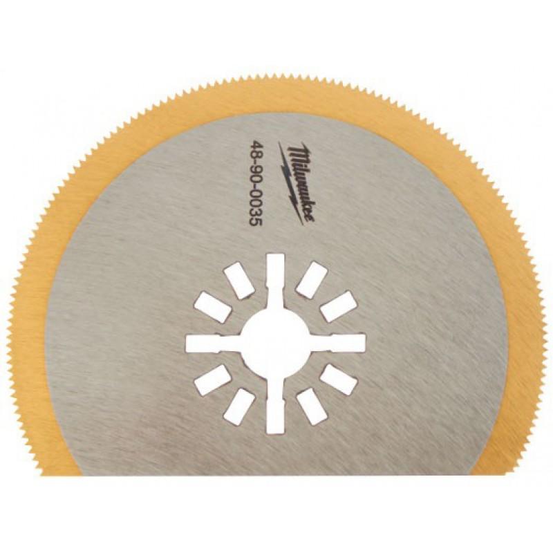 Полотно для мультитул 80мм с титановым напылением для резки металла, дерева с гвоздями пластика и фибергласса MILWAUKEE 48900035