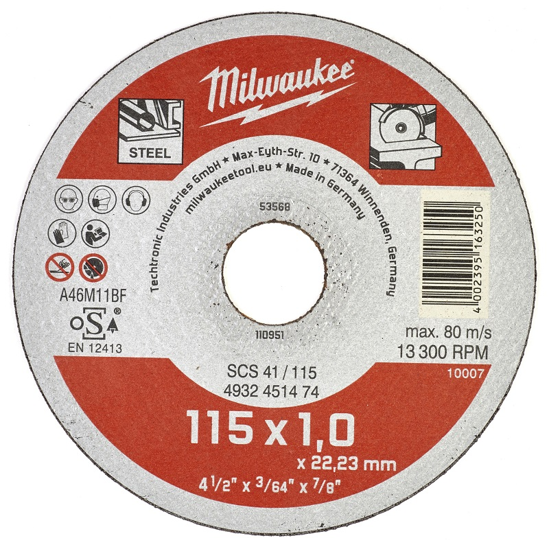 Отрезной диск по металлу SCS 41 MILWAUKEE 4932451474