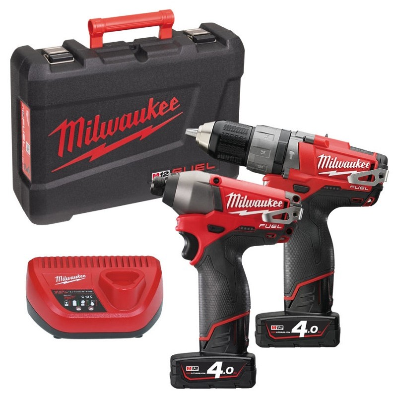 Набор MILWAUKEE M12 PP2A-402C 4933440992