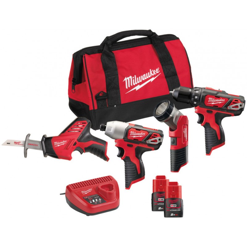 Набор MILWAUKEE M12 ВPP4A-202B 4933441240