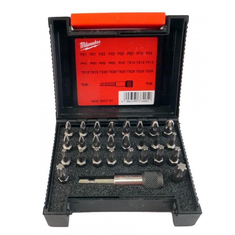 Набор бит для шуруповерта 27 шт MILWAUKEE 4932352747