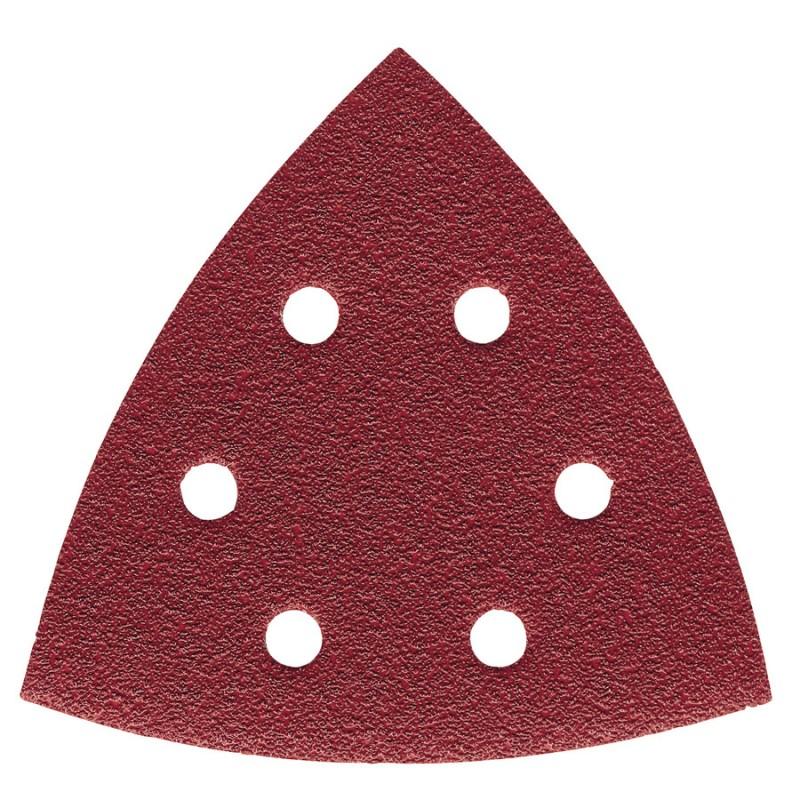 Шлифовальная бумага MILWAUKEE крепление Велькро 105х105 мм зерно 80 5 шт 4932358493