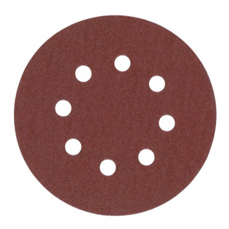 Шлифовальная бумага MILWAUKEE Ø 125 мм зерно 80 5 шт 4932367742
