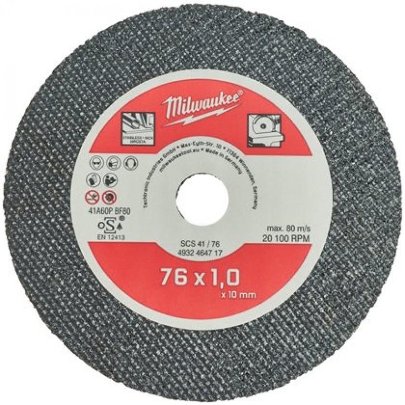 Отрезной диск по металлу MILWAUKEE SCS41 / 76 X 1 X 10 MM 4932464717