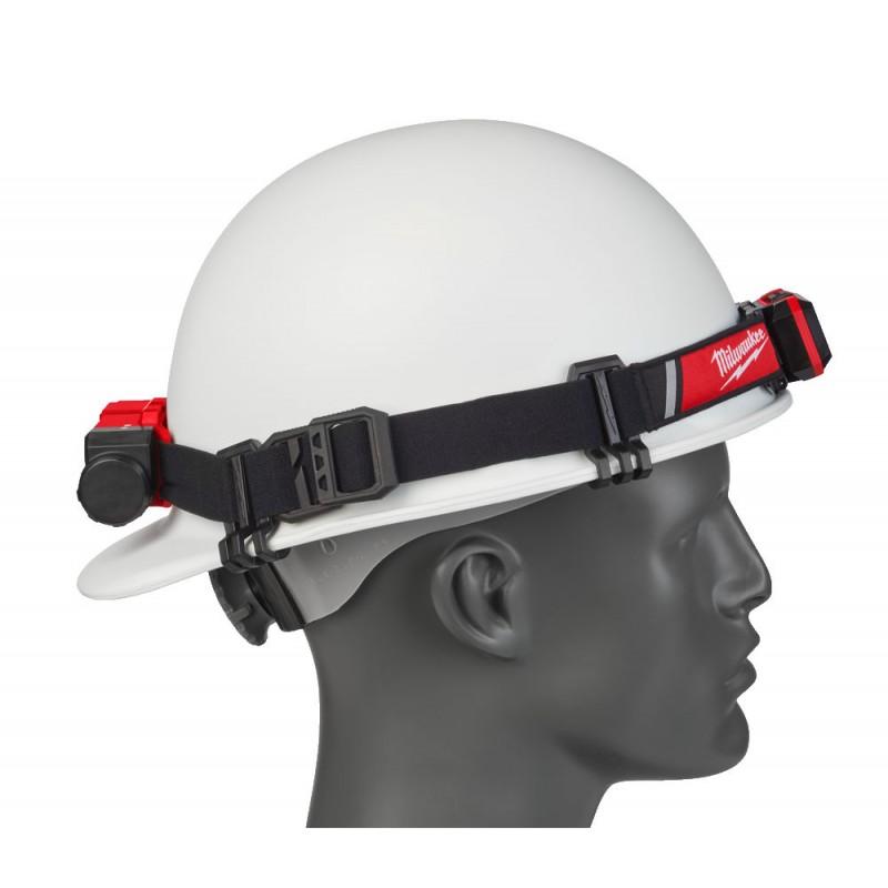 Налобный фонарь для ношения на каске, заряжаемый через USB MILWAUKEE L4 HLRP 4933471390