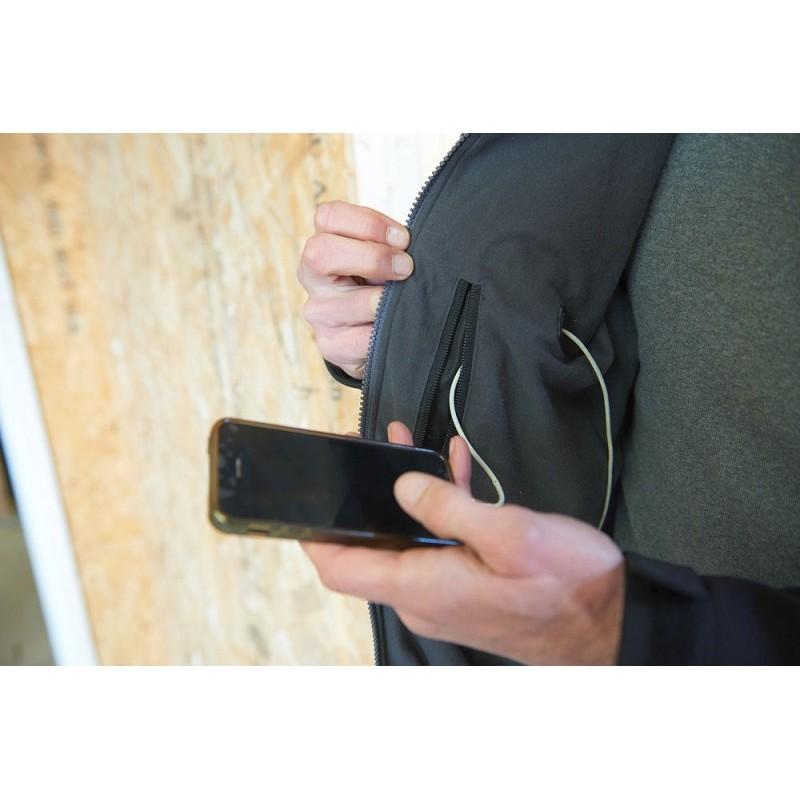 Куртка с электроподогревом MILWAUKEE M12 HJ BL3-0 (2XL) черная 4933451590