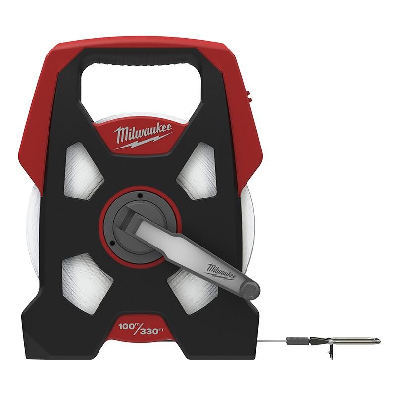 Длинная рулетка в открытом корпусе MILWAUKEE LTO 100 м - 330 фт 48225211