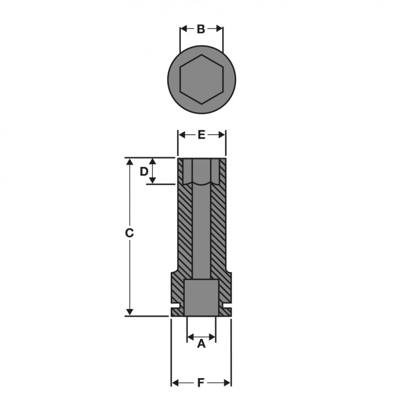 Головка ShW ½˝ SKT 11 мм MILWAUKEE 4932352849