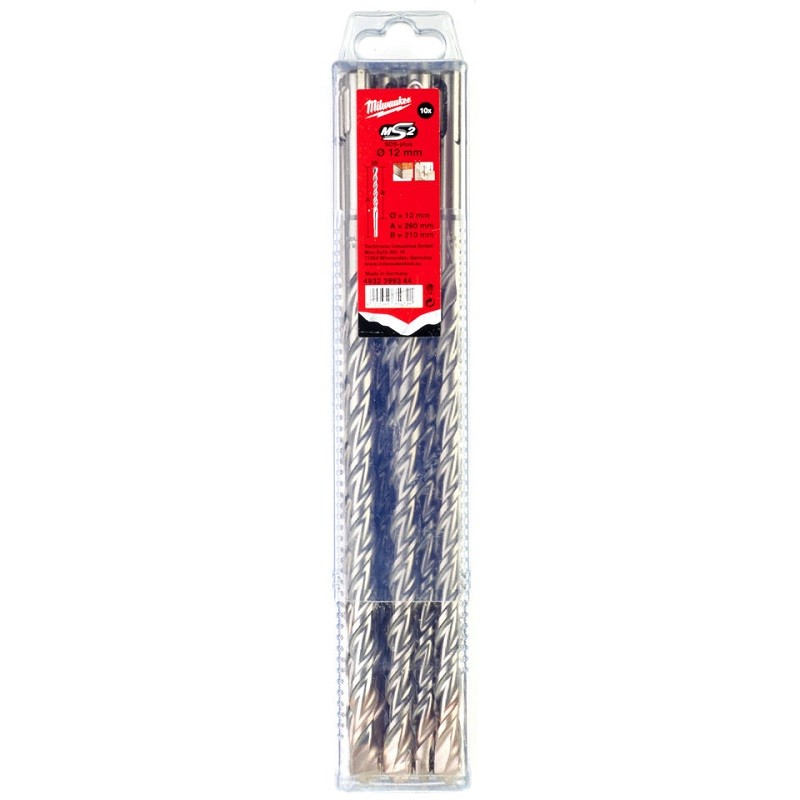 Бур SDS-PLUS MS2 с 2-мя режущими кромками 12х260 MILWAUKEE 4932399344