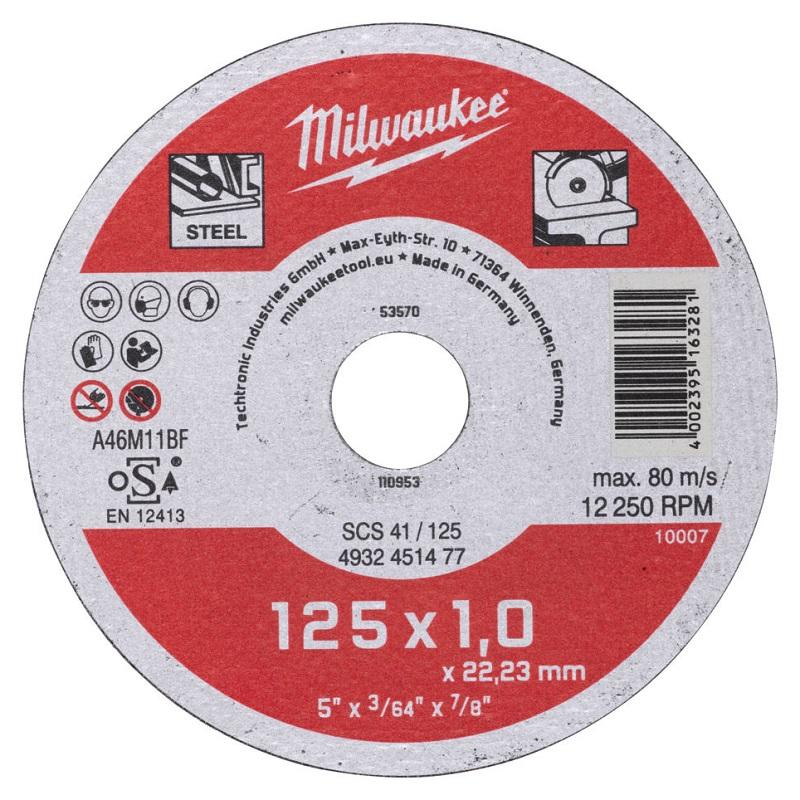 Отрезной круг по металлу 125х1,0 ММ SCS41 MILWAUKEE 4932451477