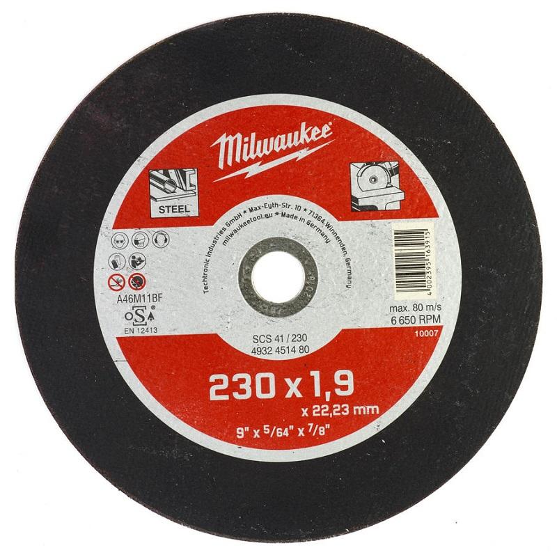 Отрезной круг по металлу 230х1,9 ММ SCS 41 MILWAUKEE 4932451480