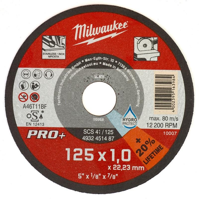 Отрезной круг по металлу 125х1,0 ММ SCS41 50 шт MILWAUKEE 4932451487
