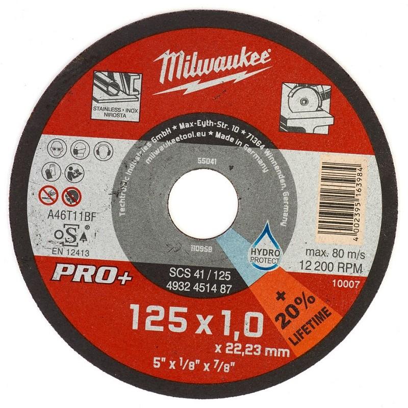 Отрезной диск по металлу 125х1,0 ММ SCS41 200 шт MILWAUKEE 4932451488