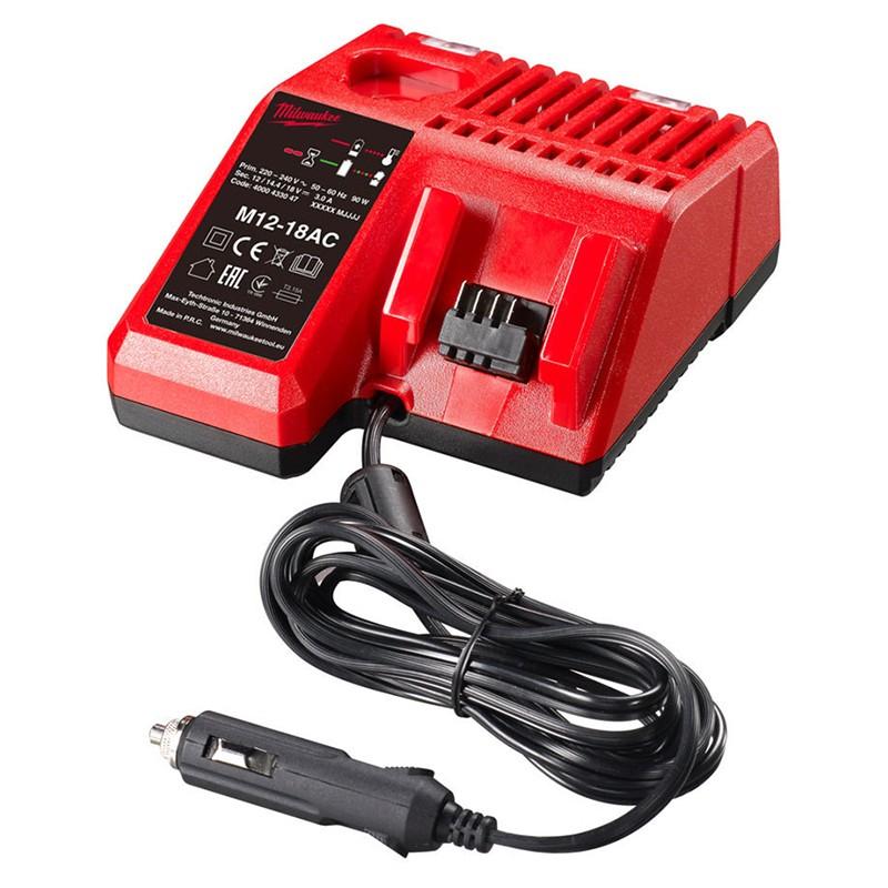 Зарядное устройство (автомобильное) MILWAUKEE M12-M18 AC 4932459205
