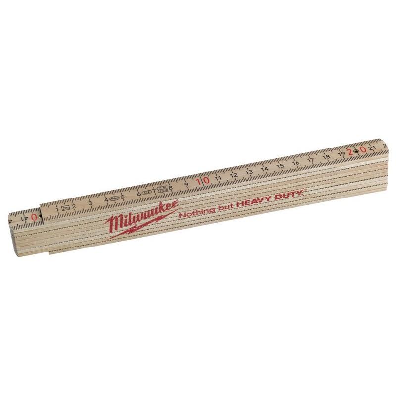 Складной метр деревянный тонкий MILWAUKEE 4932459303