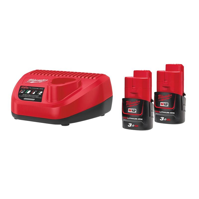 Комплект аккумулятор и зарядное устройство MILWAUKEE M12 NRG-302 4933451902