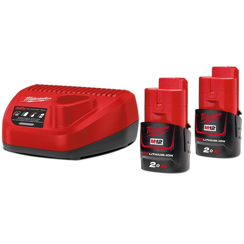 Комплект аккумулятор и зарядное устройство MILWAUKEE M12 NRG-202 4933459209