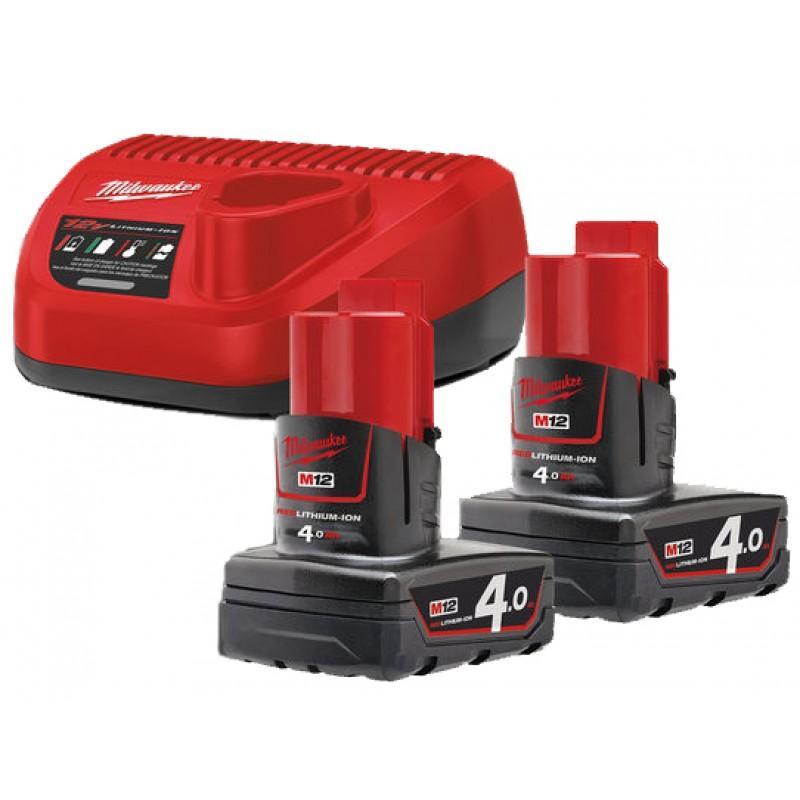 Комплект аккумулятор и зарядное устройство MILWAUKEE M12 NRG-402 4933459211