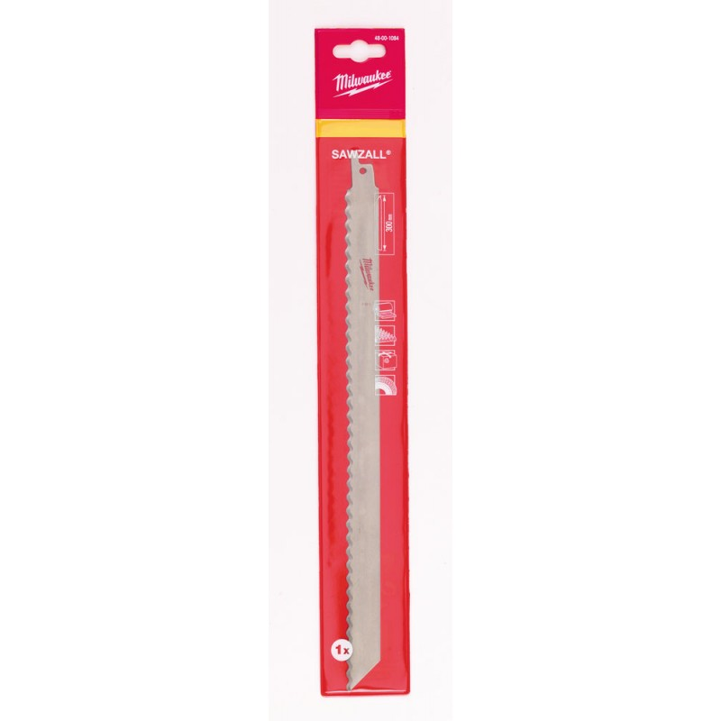 Полотно для изоляционного материала, картона, резина MILWAUKEE 300мм 48001084