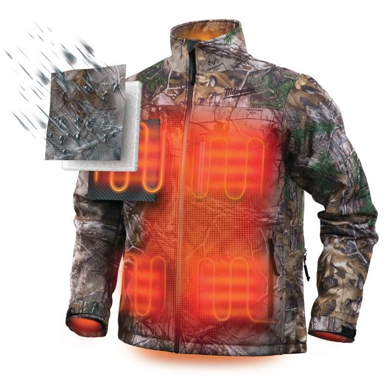 Куртка с электроподогревом MILWAUKEE M12 HJ CAMO4-0 (2XL) камуфляж 4933451600