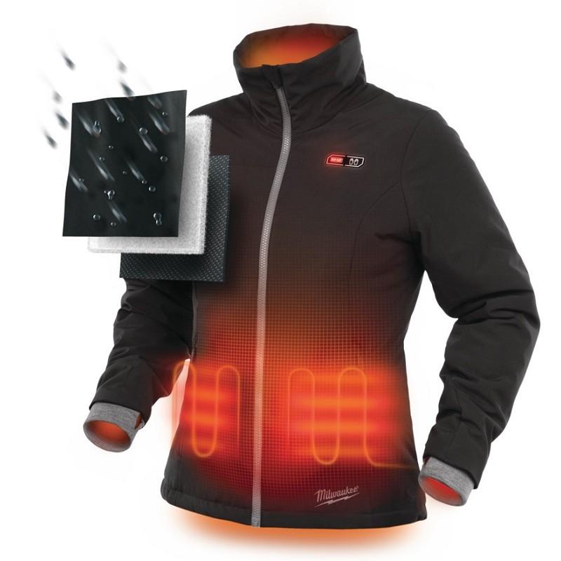 Куртка с электроподогревом женская MILWAUKEE M12 HJ LADIES-0 (S) черная 4933451601