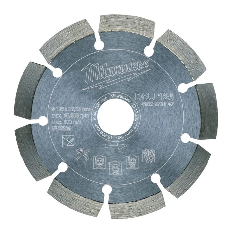 Алмазный диск профессиональная серия DSU 125 мм  MILWAUKEE 4932373147