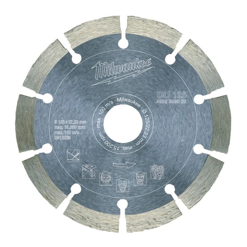 Алмазный диск профессиональная серия DU 125 мм  MILWAUKEE 4932399522