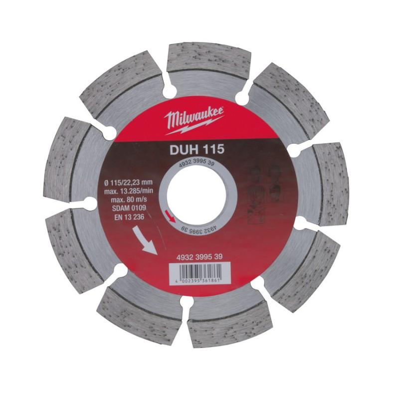 Алмазный диск профессиональная серия DUH 115 мм  MILWAUKEE 4932399539