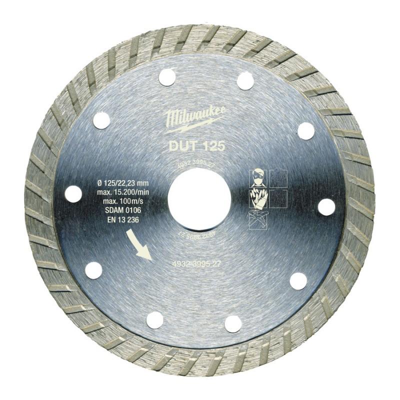 Алмазный диск профессиональная серия DUT 125 мм  MILWAUKEE 4932399527