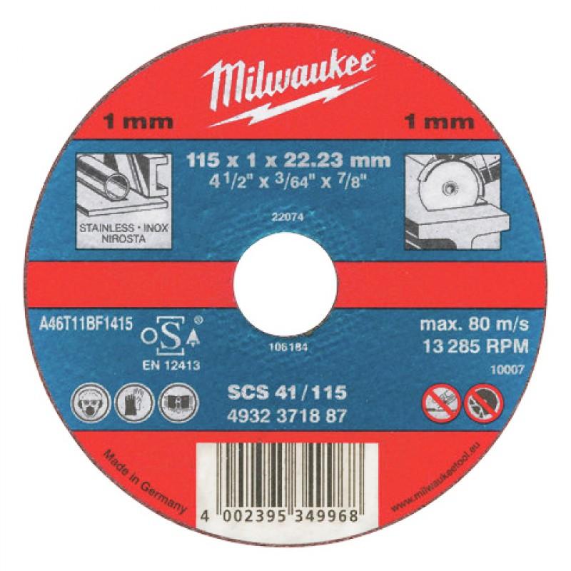 Отрезные диски по металлу 115х1х22.23 ММ SCS 41 25 шт MILWAUKEE 4932371905