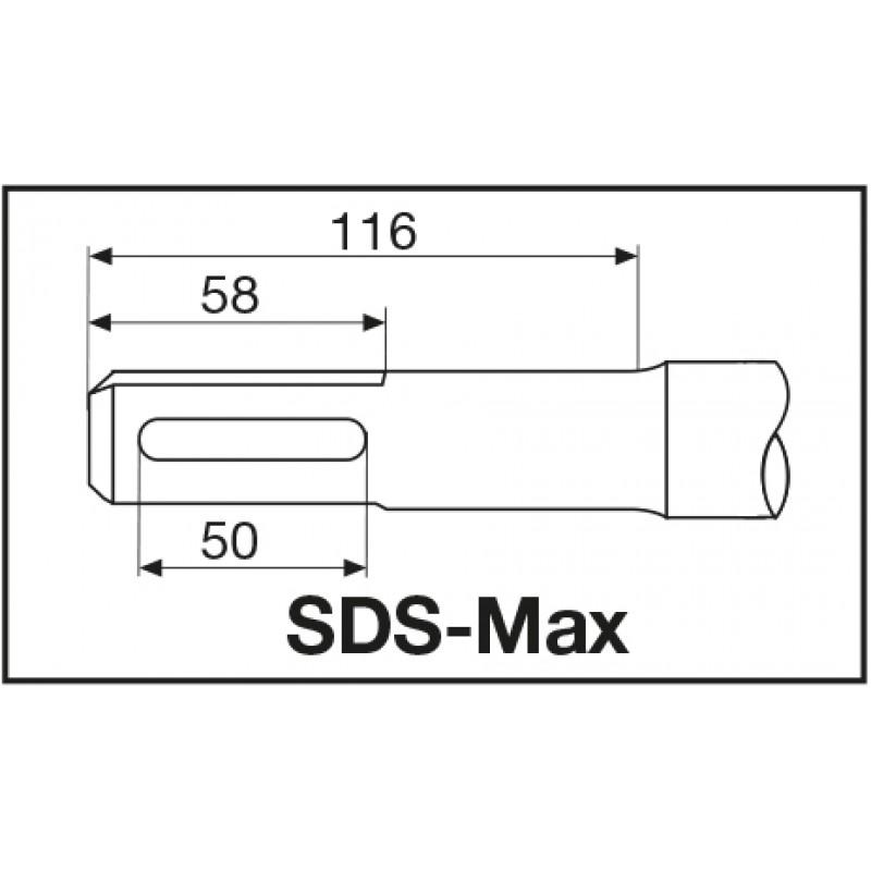 БУР С ПЫЛЕОТВОДОМ MILWAUKEE SDS-MAX 24 X 600 ММ 4932459291