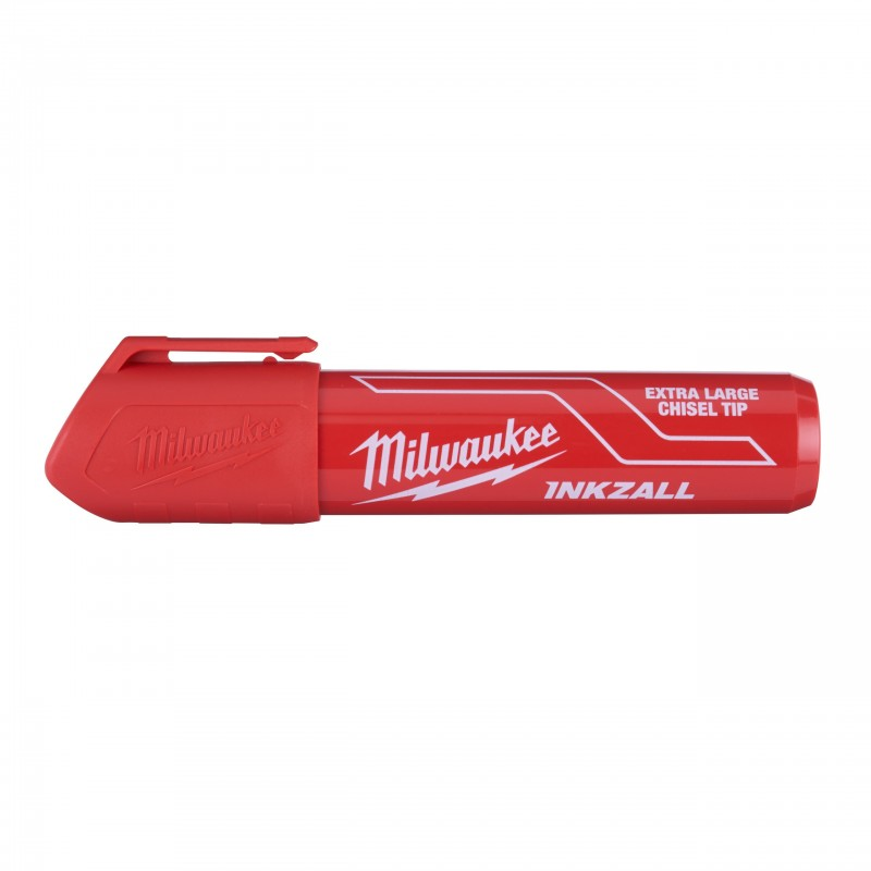 Маркер INKZALL для стройплощадки супер-большой XL красный (1шт) (дисплей 12 шт)