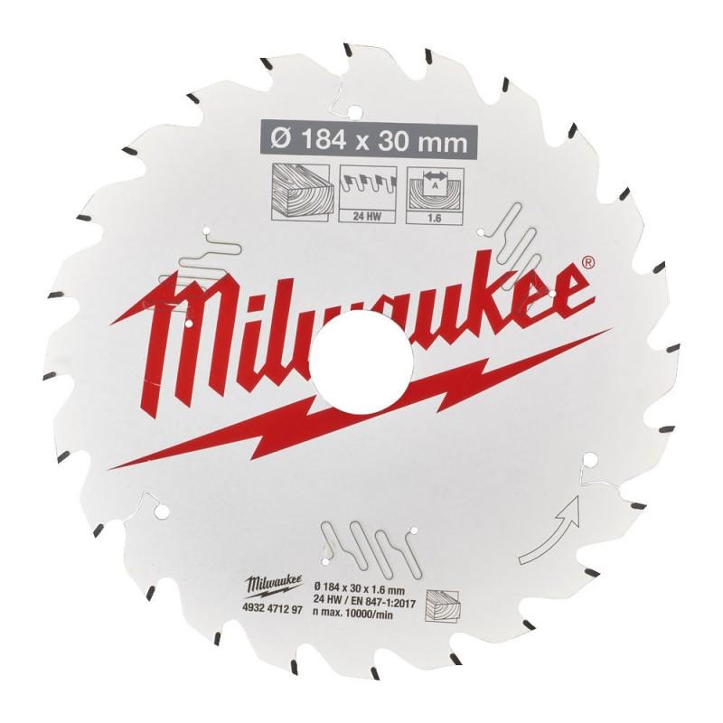 Диск для циркулярной пилы CSB P W 184 x 30 x 1,6 x 24ATB MILWAUKEE 4932471297