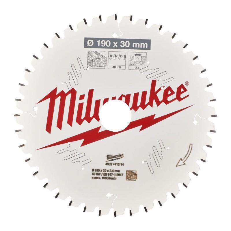 Диск для торцовочной пилы CSB MS W 190 x 30 x 2,4 x 40ATB MILWAUKEE 4932471314