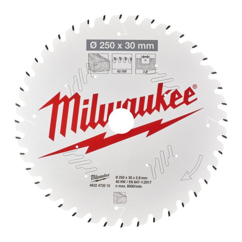 Диск для торцовочной пилы CSB MS W 250x30x2,8x40 ATB MILWAUKEE 4932472015