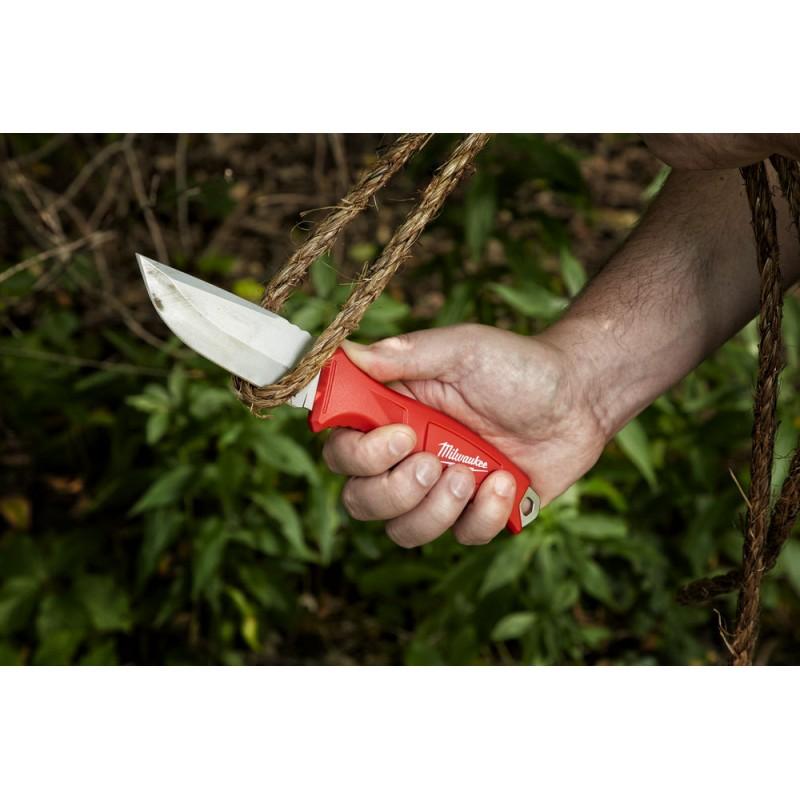 Нож  строительный MILWAUKEE  с фиксированным лезвием 4932464828