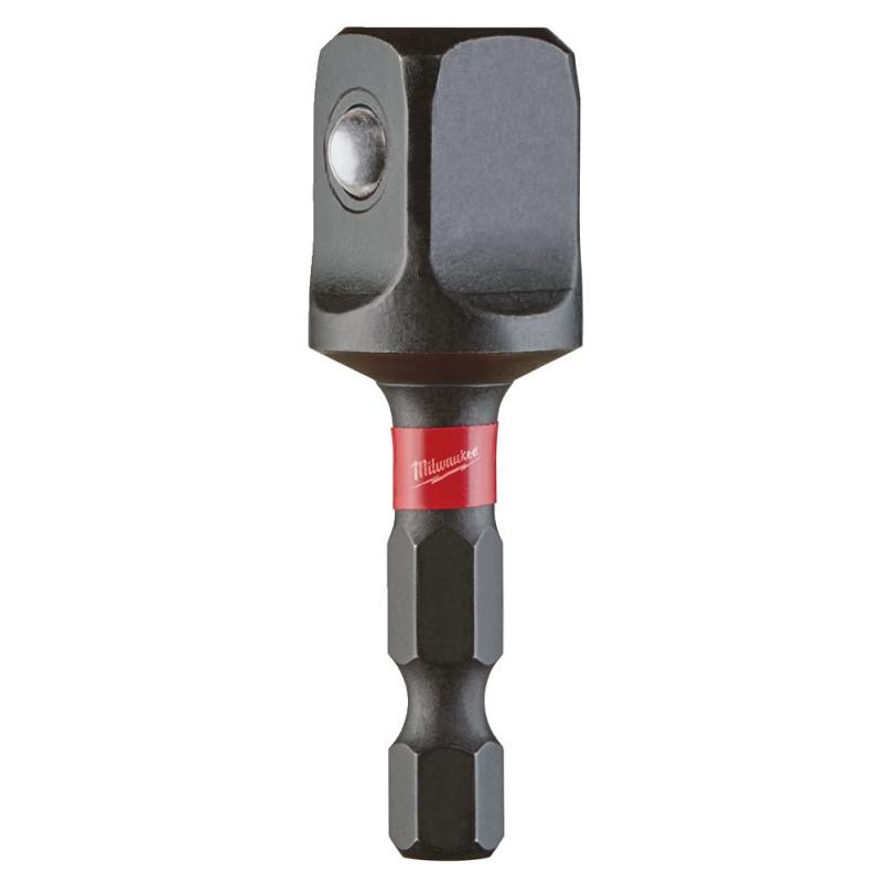 Переходник для головок 1/4″ HEX -1/2″ квадрат, длинна 50 мм MILWAUKEE 4932471827