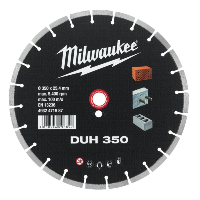 Алмазный диск профессиональная серия DUH 350 мм  MILWAUKEE 4932471986