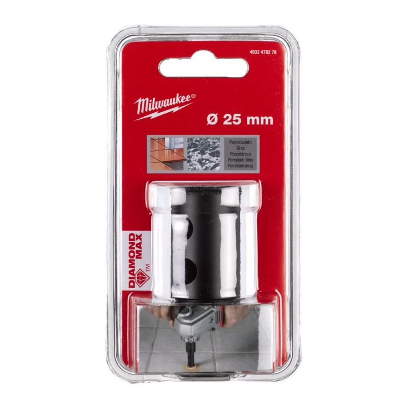 Кopoнчатое сверло для сухого сверления с посадкой M 14 Diamond MAX™ диаметром 25 мм MILWAUKEE 4932478278