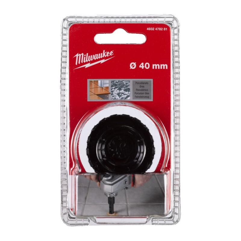 Кopoнчатое сверло для сухого сверления с посадкой M 14 Diamond MAX™ диаметром 40 мм MILWAUKEE 4932478281