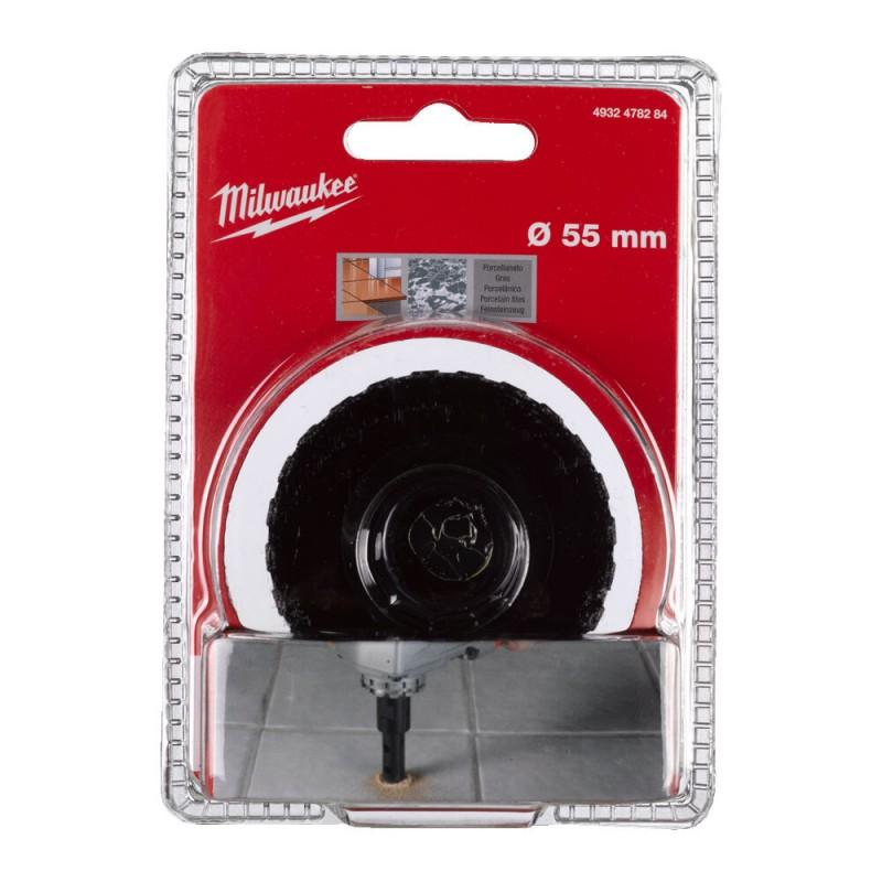 Кopoнчатое сверло для сухого сверления с посадкой M 14 Diamond MAX™ диаметром 55 мм MILWAUKEE 4932478284