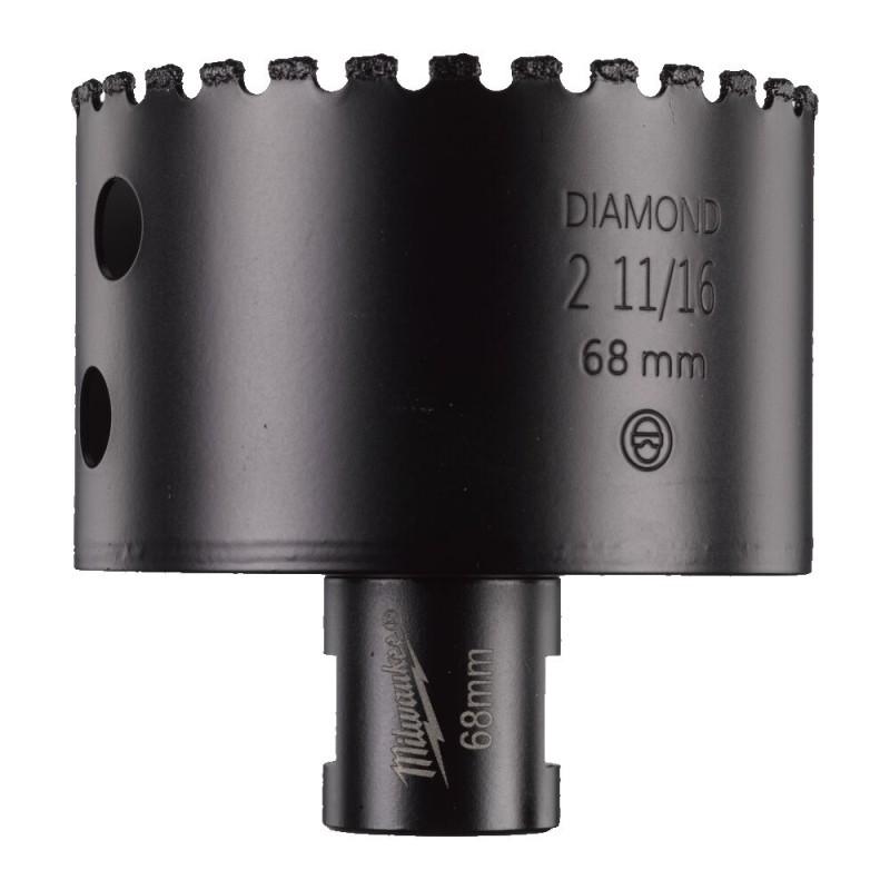 Кopoнчатое сверло для сухого сверления с посадкой M 14 Diamond MAX™ диаметром 68 мм MILWAUKEE 4932478285