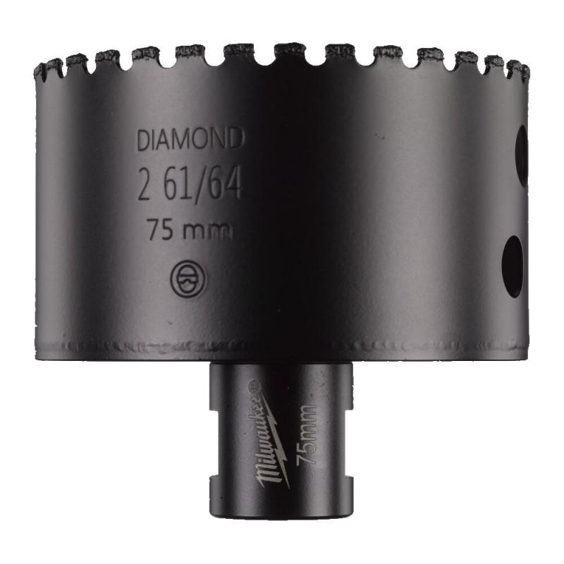 Кopoнчатое сверло для сухого сверления с посадкой M 14 Diamond MAX™ диаметром 75 мм MILWAUKEE 4932478286