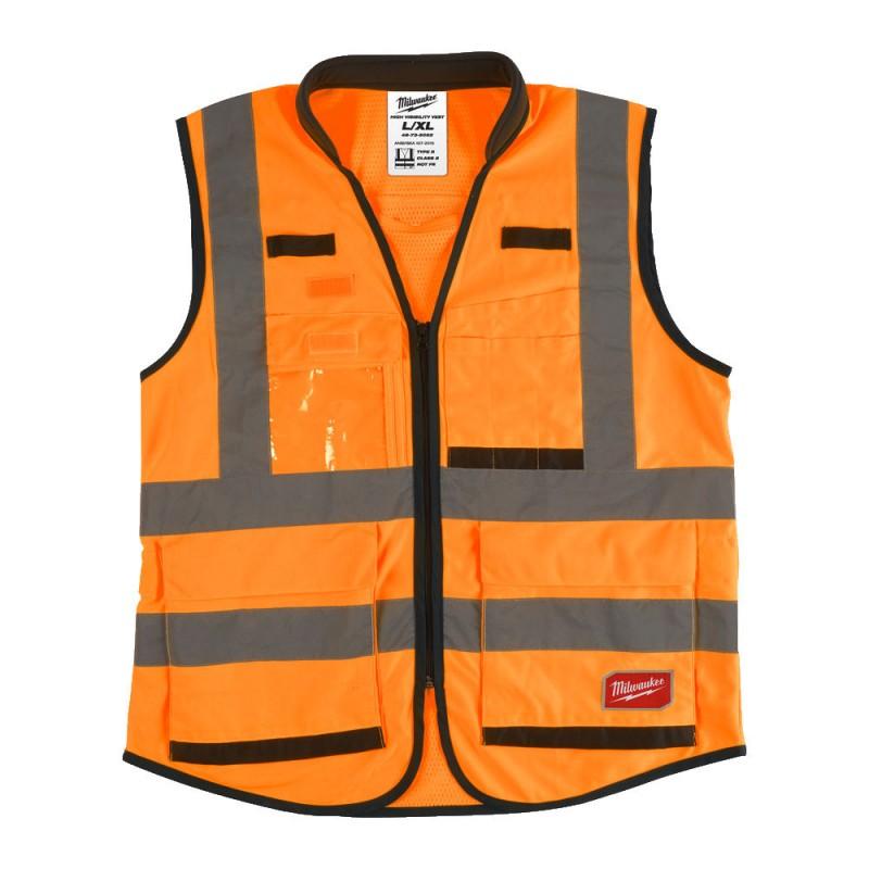 Сигнальный жилет Премиум оранжевый Milwaukee L/XL  4932471899