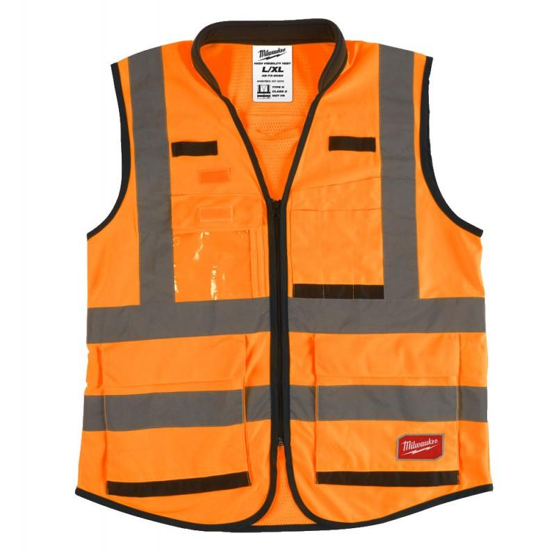 Сигнальный жилет Премиум оранжевый Milwaukee 2XL/3XL 4932471900