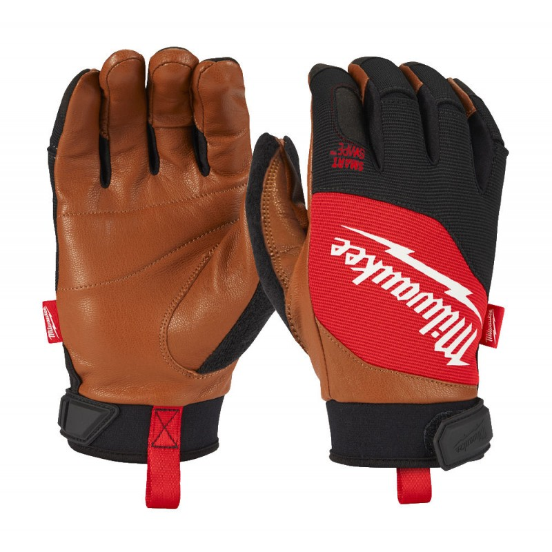 Перчатки с кожаными вставками  MILWAUKEE 8/M 4932471912